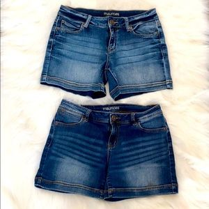 Maurices Jean Shorts (x2) Size 5/6